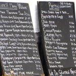Varied menu and costings...