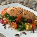 Grilled Salmon Panzanella