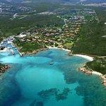 Aerial view of Costa Corallina village - Veduta aerea del villaggio di Costa Corallina