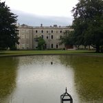 Rear of Farmleigh house by the lake