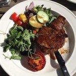 steak and salad ( chose salad instead of chips)