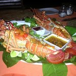 Darrion prepared an amazing fresh lobster dinner...incredible!