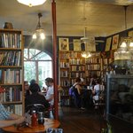 Eating area at Quadrant Book Mart & Coffee House