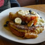 French toast special at Quadrant Book Mart - with croissants, honeyed mascarpone, & almond cream