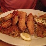 Fried Seafood combo- Zydeco platter- yum