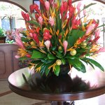 Fleurs naturels dans le hall