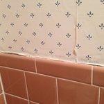 Peeling wallpaper.