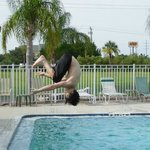 Ryan flipping out at the pool