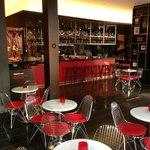 ultra modern bar and buffet area