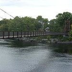 Roebling ropes suspend this picturesque Swinging Bridge