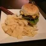 $5 burger with kettle chips