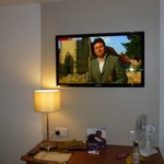 Double room with big tv