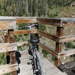 Viewing point on one of the trestles