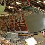 Restoration area (Waco glider in restoration)