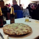 pizza y cusqueña