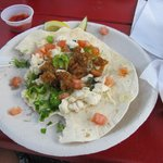 Haddock fish tacos were a wonderful blend of flavors
