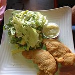 Chicken Fingers and Cesar salad