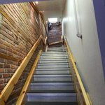 First flight of stairs to the lobby