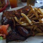 Steak et côtes levées miam!