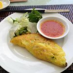 Delicious banh xeo served for breakfast