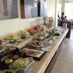 Breakfast buffet in addition to the a la carte menu