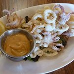 Calamari Dusted in rice flour, served with tomato chipotle aioli.