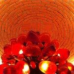 Lamp fixture at La Lupita