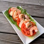Tomato, Basil, Shrimp & Mozzarella Salad