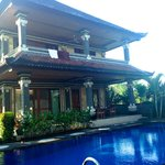 The architecture is western with a Balinese influence.