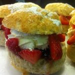strawberry cream scones.