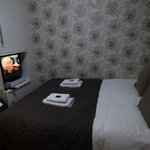View of the Bed with the TV