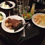 Awesome dinner at Parklands Motor Lodge