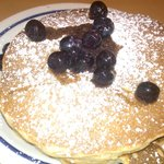 Luscious buttermilk pancakes with blueberries