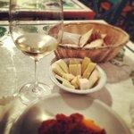 Cheese and caponata - Italian aubergine cold dish