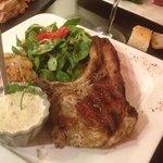 la cote de cochon .. delicieuse Sauce pleurote ..28/07 ..P&A