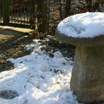 Saddle stones in the snow