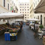 The market in front of the hotel
