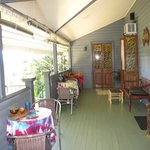 Verandah great for meeting people