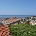 View of Dubrovnik from terrace