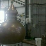 copper still with North African flair