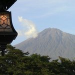 Beautiful view of Mt. Meru from the balcony of Blue Ginger