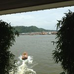 The view across the river to Kampong Ayer