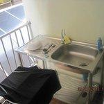 Balkon m Waschtisch
