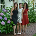 Front walkway, 3 lovely ladies before heading out on the town
