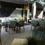 We had breakfast here