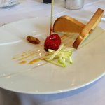 Foie gras in raspberry marmalade