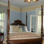 Our beautiful bedroom, the Bess Ray-Howell Room