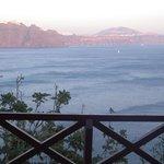 La caldeira fin de journée depuis la terrasse