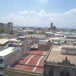 México, Guadalajara. Hotel Dali Plaza, Vista desde la ventana.