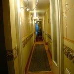 corredor de acesso aos apartamentos